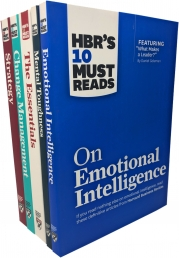 HBR's 10 Must Reads 5 Books Collection Set (On Emotional Intelligence, Mental Toughness, The Essentials, Change Management, Strategy) by Harvard Business