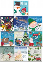 Christmas Wishes Collection 10 Books Set - Santas 12 Days of Christmas, A Very Messy Christmas, Twas the Night Before Christmas Photo