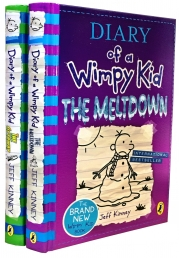 Latest Diary of a Wimpy Kid 2 Books Collection Set The Meltdown, The Getaway by Jeff Kinney Photo