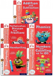 Progress with Oxford Series 5 Books Collection Set (Age 5-6) (Numbers and Counting, Phonics, Numbers and Counting, Multiplication, Division) Photo