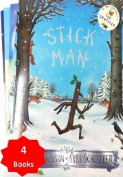 Stick Man by Julia Donaldson With 3 Extra Children's Picture Books Stories Photo