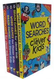 Buster Brain Games for Clever Kids 5 Book Collection Set (Brain Games, Crosswords, Word Searches) Photo