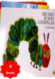 The Very Hungry Caterpillar With 3 Extra Children's Picture Books Stories Photo