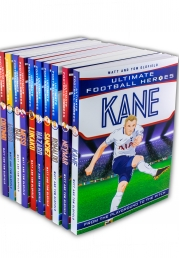 Ultimate Football Heroes Collection 10 Books Set (Kane, Neymar, Ronaldo, Hazard, Lukaku, Messi, Bale, Aguero, Coutinho, Shanchez) Photo