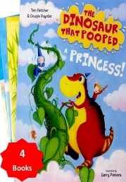 The Dinosaur That Pooped A Princess! and Other Stories Collection 4 Books Set Photo