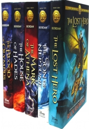 The Heroes of Olympus Collection 5 Books Set Collection by Rick Riordan (Hardback) Photo