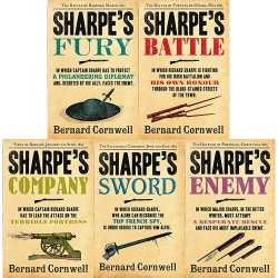 Bernard Cornwell's Richard Sharpe's Series 11 to 15 (5 Books Set) (Fury, Battle, Company, Enemy, Sword) Photo