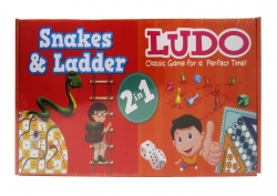 Snake and Ladder 2 in 1 Ludo Traditional Board Game For Age 6+ Photo