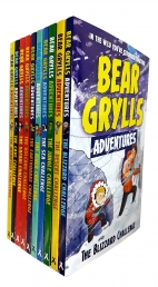Bear Grylls Adventure Collection 10 Books Set - Blizzard Challenge, Desert challenge, Jungle Challenge, Sea Challenge, River Challenge, Earthquake Cha Photo