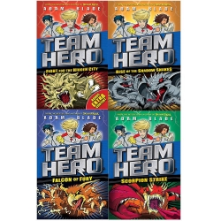 Team Hero Series 2  Fight For The Hidden City, Scorpion Strike, Falcon Of Fury, Rise Of The Shadow Snakes by Adam Blade