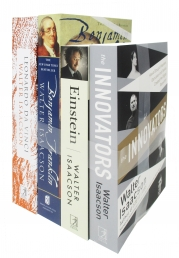 Walter Isaacson 4 Books Collection Set Photo