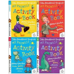 Read With Oxford My Phonics Activity Book (Stage 1 To 4) 4 Books Collection Set Photo
