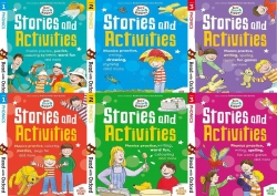 Read With Oxford Biff, Chip and Kipper Stories and Activties (Stage 1 To 3) 6 Books Collection Set Photo