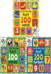 First 100 Lift-the Flap Collection 3 Board Books Set (First 100 Words, First 100 Number, First 100 Animals) Photo