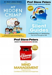 Professor Steve Peters 3 Books Set Collection The Silent Guides, My Hidden Chimp, The Chimp Paradox Photo