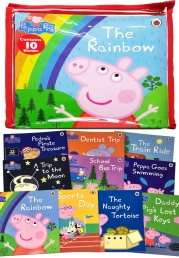 Peppa Pig 10 Books Zip Bag Collection Set Photo