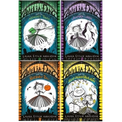 Laura Ellen Anderson Amelia Fang Series 4 Books Collection Set (The Memory Thief, The Unicorn Lords, The Barbaric Ball, The Half-Moon Holiday) by Laura Ellen Anderson