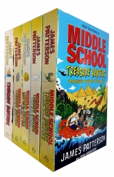 James Patterson Middle School Treasure Hunters 5 Books Collection Set Photo