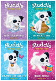 Hayley Daze Muddle The Magic Puppy 4 Books Collection Set Photo