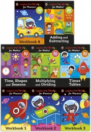 Ladybird I am Ready Phonics Workbooks and Maths 8 Books Collection Set by Ladybird