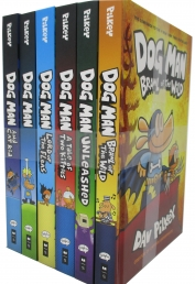 Dog Man, Dav Pilkey 6Bks Set, (Brawl Of The Wild, Unleashed, A Tale Of Two Kittens, Lord Of The Fleas, Dog Man, And Cat Kid) Photo