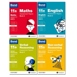 Bond11 Assessment Papers, Maths English, Verbal Reasoning, Non-Verbal Reasoning, Book 2, 4Bks Collections Photo