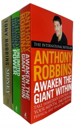 Tony Robbins 3 Books Collection Set (Awaken The Giant Within, Unlimited Power: The New Science of Personal Achievement & Money Master the Game) by Tony Robbins