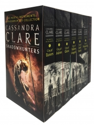 Cassandra Clare The Mortal Instruments A Shadowhunters 7 Books Collection Set Bones, Ashes, Glass, Fallen Angels, Lost Souls, Codex