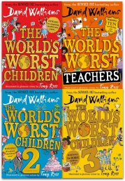 David Walliams Worlds Worst Children Collection 4 Books Set Photo