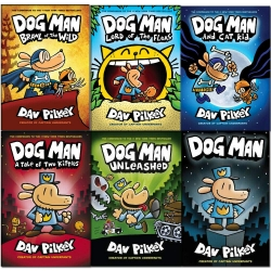 Dav Pilkey Dog Man Series 6 Books Set (Brawl Of The Wild, Unleashed, A Tale Of Two Kittens, Lord Of The Fleas, Dog Man, And Cat Kid) Photo