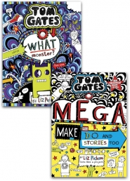 Tom Gates 2 Books Collection Set By Liz Pichon (What Monster?, Mega Make and Do and Stories Too) Photo