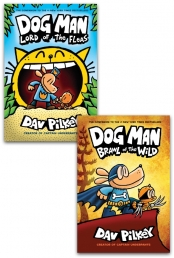 Dav Pilkey Dog Man Series 2 Books Collection Set Photo