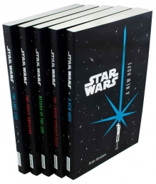 Star Wars Junior Novel Collection 5 Books Set by Ryder Windham (A New Hope, Empire Strikes Back, Return of The Jedi, Force Awakens, The Last Jedi) Photo