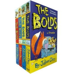Julian Clary Bolds 4 Books Collection Set The Bolds, the Rescue, on Holiday, in Trouble Photo