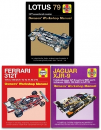 Haynes Manual 3 Books Collection Set (Owners Workshop Manual Lotus 79, Owners Workshop Manual Ferrari 312T, Owners Workshop Manual Jaguar XJR-9) Photo