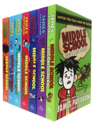 James Patterson Middle School Collection 7 Books Set Dogs Best Friend,Just My Rotten Luck, Save Rafe, My Brother Is A Big Fat Liar Photo