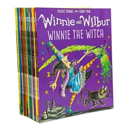 Winnie and Wilbur Series 16 Books Bag Collection Set by Valerie Thomas and Korky Paul Photo