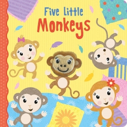 Five Little Monkeys with adorable finger puppet Early Reading, Early Learning by Imagine That (Author), Jenny Copper (Author), Carrie Hennon (Illustrator)
