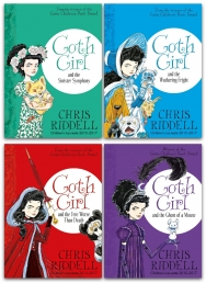 Goth Girl Chris Riddell 4 Books Collection Set (Goth Girl and the Ghost of a Mouse, The Fete Worse Than Death, The Wuthering Fright and More) by Chris Riddell