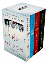 Red Queen Series 4 Books Collection Box Set by Victoria Aveyard Red Queen, Glass Sword, Kings Cage, War Storm Photo