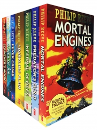 Philip Reeve Mortal Engines 7 Books Collection Set (Predator Gold, Infernal Devices, Mortal Engines, Darkling Plain, Web of Air, Fever Crumb and More) by Philip Reeve