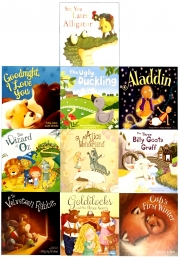 Children Picture Storybooks 10 Books Collection Set (The Ugly Duckling, Aladdin, Goldilocks, Wizard of Oz, Alice in Wonderland, First Winter and More) Photo