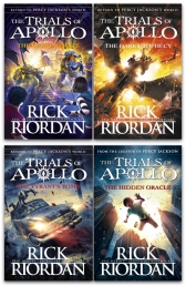 Rick Riordan Trials of Apollo Collection 4 Books Set (Dark prophecy, Hidden Oracle, Burning Maze, The Tyrants Tomb [Hardcover])) Photo
