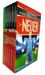 Ultimate Football Heroes 6 Books Collection Set Ronaldo, Messi, Neymar, Neuer, Kane, Pogba Photo