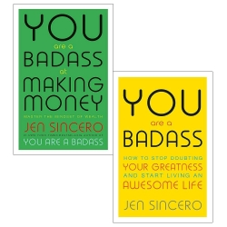 You are a Badass Collection 2 Books Set How to Stop Doubting Your Greatness and Start Living an Awesome Life, You Are a Badass at Making Money Photo