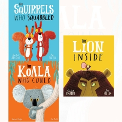 Childrens Pictureflat 3 Books Collection Set (The Koala Who Could, The Lion Inside, The Squirrels Who Squabbled) Photo
