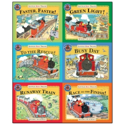 Little Red Train Benedict Blathwayt Collection 6 Books Set Faster Faster Green Light To The Rescue Busy Day The Runaway Train Little Red Train
