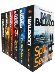 David Baldacci King and Maxwell Thriller 6 Books Collection Set (Split Second, Sixth Man, King and Maxwell, Simple Genius, First Family, Hour Game) Photo