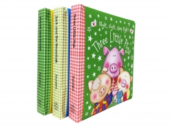 Bedtime Stories Fairy Tales 3 Padded Books Collection Set Age 0-3 Photo