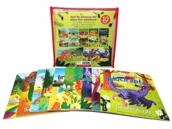 Miles Kelly Dinosaur Adventures 10 Books Bag Collection Set Allosaurus, Ankylosaurus, Brachiosaurus, Diplodocus, Iguanodon, Plateosaurus Photo